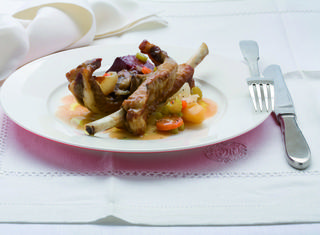 Costine stufate con verdure