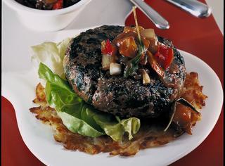 Hamburger di manzo e spinaci
