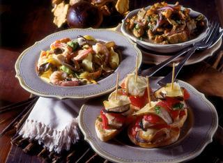 Pappardelle con porcini e gamberi ricetta
