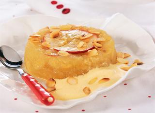 Ricetta Crema al latte di mandorla e terrina di mele