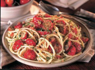 Ricetta Bucatini con pomodorini ripieni