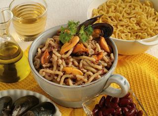 Ricetta Gramigna cozze e fagioli rossi