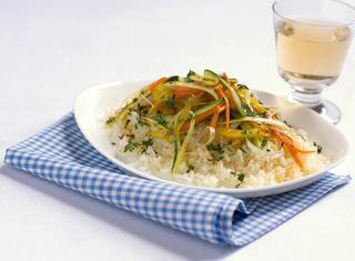 Riso pilaf senza burro con verdure