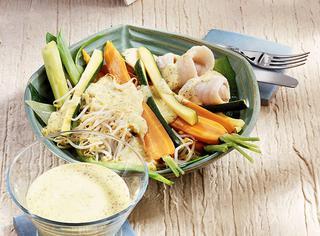 Carote, zucchine e sogliola al vapore