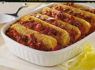 Pasticcio di polenta taragna e luganega