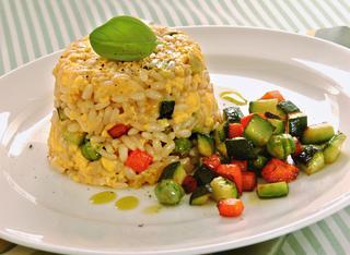 Tortini di riso con verdure