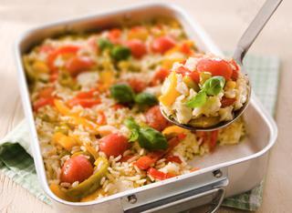 Ricetta Riso al forno con peperonata