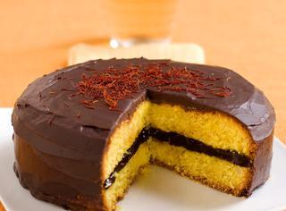 Torta allo zafferano, mandorle e cioccolato