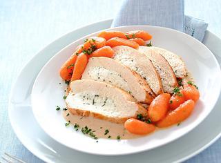 Ricetta Petto di pollo ripieno e carotine