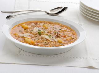 Ricetta Zuppa di farro al pecorino
