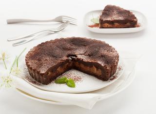 Ricetta Crostata al cacao con pesche