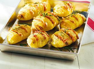 Ventagli di patate e pancetta