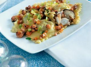 Tortelli di patate con ragù di polpo
