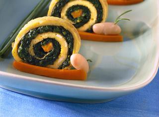 Lumache di frittata e spinaci