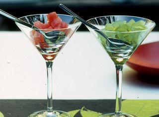 Gelatina di frutta al bicchiere