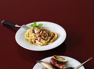 Spaghetti aglio olio e granchio