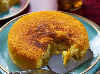 Tadig o riso con crosta allo zafferano
