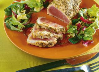 Tagliata di tonno fresco al pepe verde