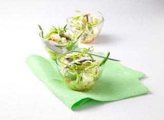 Ricetta Puntarelle con acciughe fresche