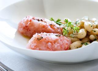 Tartare di gamberi con salsa di pomodori secchi