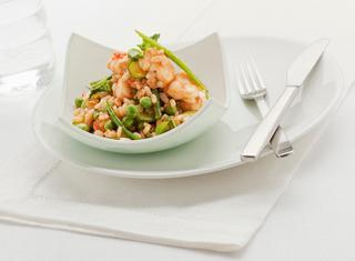 Ricetta Cereali con pesce e verdure