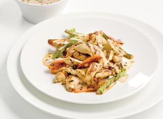 Ricetta Straccetti di pollo marinati con le verdure