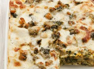 Ricetta Lasagne con zucca, carciofi e spinaci