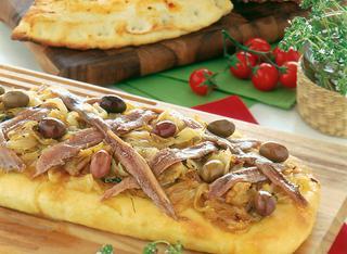 Calzone con mozzarella e pomodoro