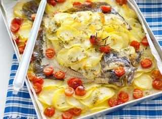 Ricetta Rombo al forno con patate