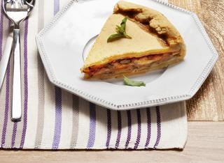 Ricetta Torta con melanzane mozzarella e pomodoro