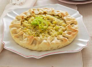 Ricetta Torta di patate con porri e cipolla
