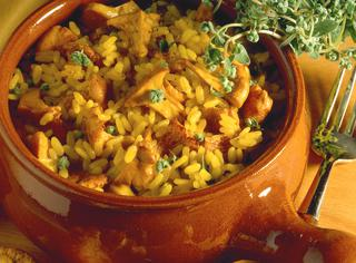 Ricetta Risotto al curry e funghi misti