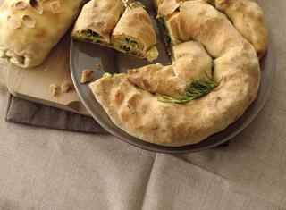 Ricetta Strudel con prosciutto, mozzarella e mandorle