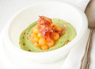 Ricetta Crema di avocado, zucchine e melone