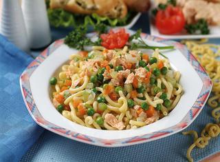 Ricetta Gramigna salmone e piselli