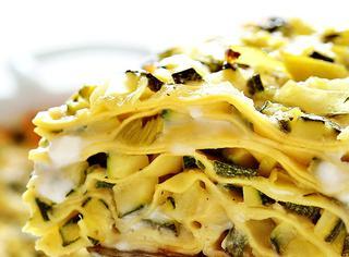 Lasagne con zucchine e porri
