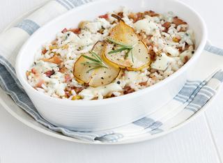 Ricetta Riso con pere, pancetta e gorgonzola