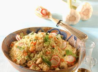 Cous cous di insalata alla menta
