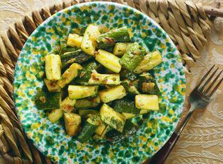 Ricetta Zucchine trifolate a tocchetti