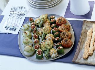 Teglia di verdure ripiene