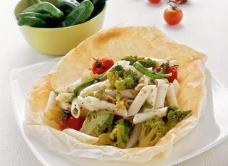 Ricetta Penne con le verdure miste al cartoccio