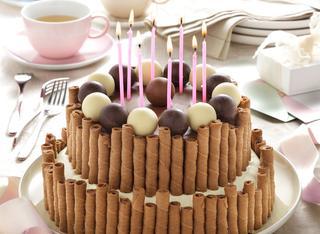 Ricetta Torta di compleanno al cioccolato a piani
