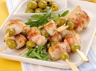 Ricetta Spiedini di pollo e olive