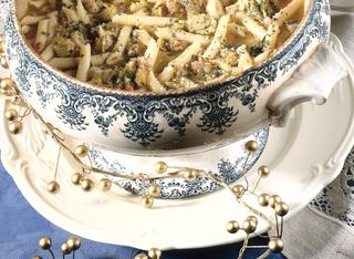 Penne lunghe in brodo