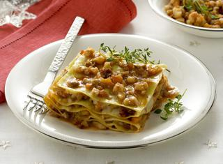 Ricetta Lasagne con ragù di pesce misto