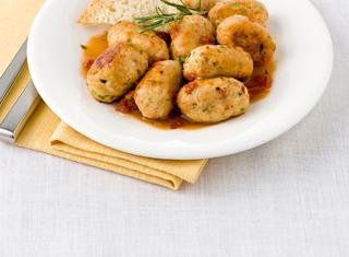 Polpette di pollo e zucchine all'acciuga