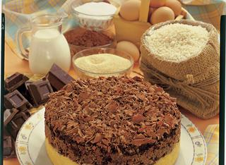 Torta di riso con cacao e cioccolato