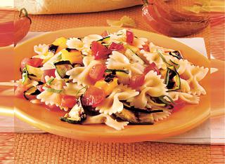 Ricetta Farfalle con verdure grigliate