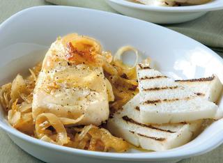Ricetta Filetti di merluzzo con cipolle agrodolce