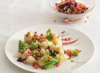 Ricetta Cavolo romanesco, cavolfiore e frutta secca